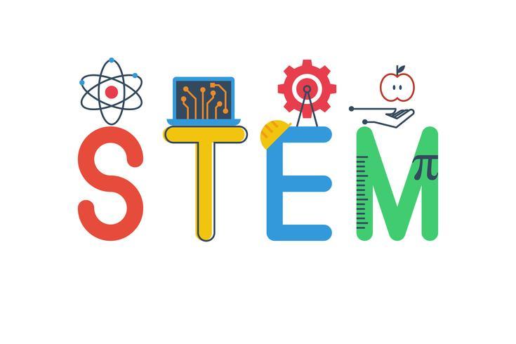 Illustration av STEM vektor