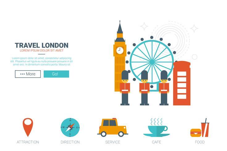 Reise-London-Konzept vektor