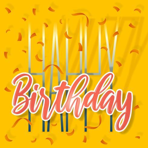 Alles- Gute zum Geburtstagschönes Gruß-Karten-Plakat vektor