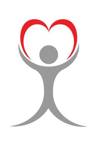 Logo für eine Herzklinik-Vektor-Illustration vektor