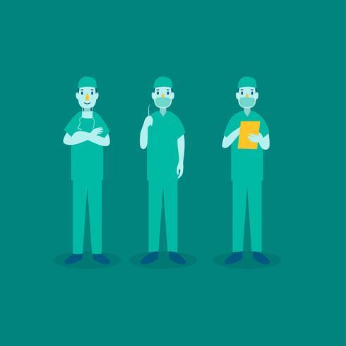 Gesundheitswesen-Charakter-Chirurgie-Doktor vektor