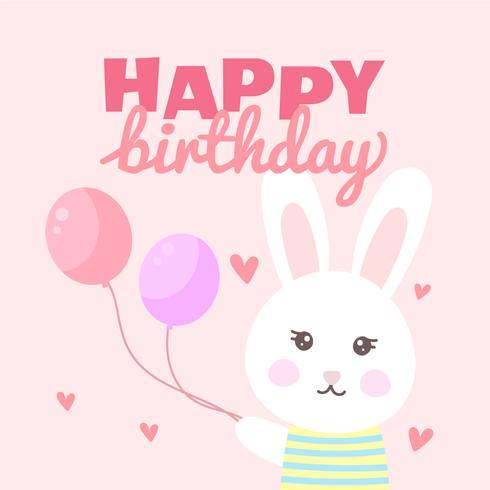 Alles Gute zum Geburtstag Bunny vektor