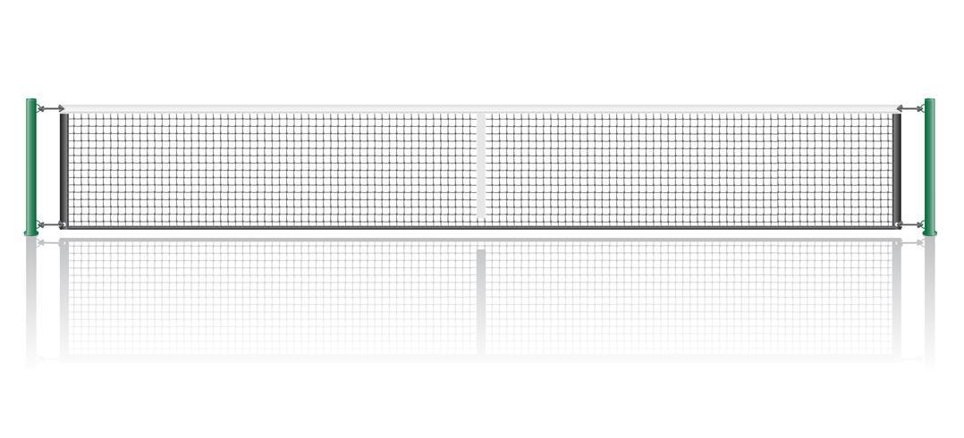 Netz für das Spiel der Tennisvektorillustration vektor