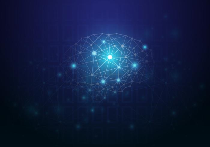 Künstliche Intelligenz. Virtuelles Konzept. vektor