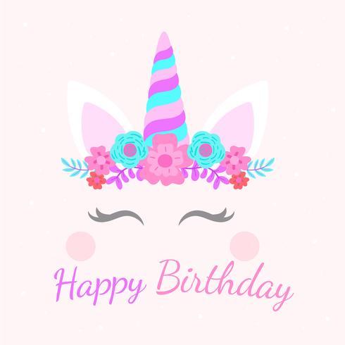 Alles Gute zum Geburtstag Einhorn vektor