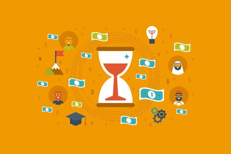 Zeit-Geld-Konzept vektor