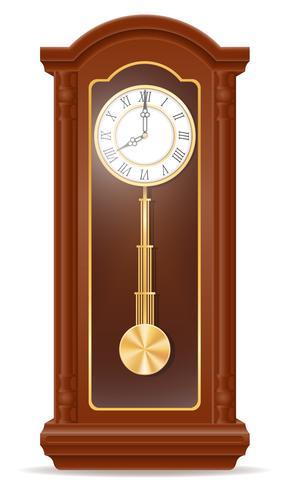 alte Retro- Ikonenvorrat-Vektorillustration der Uhr vektor