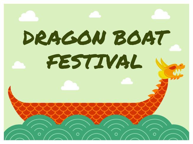 Unik Dragon Boat Festival Vector