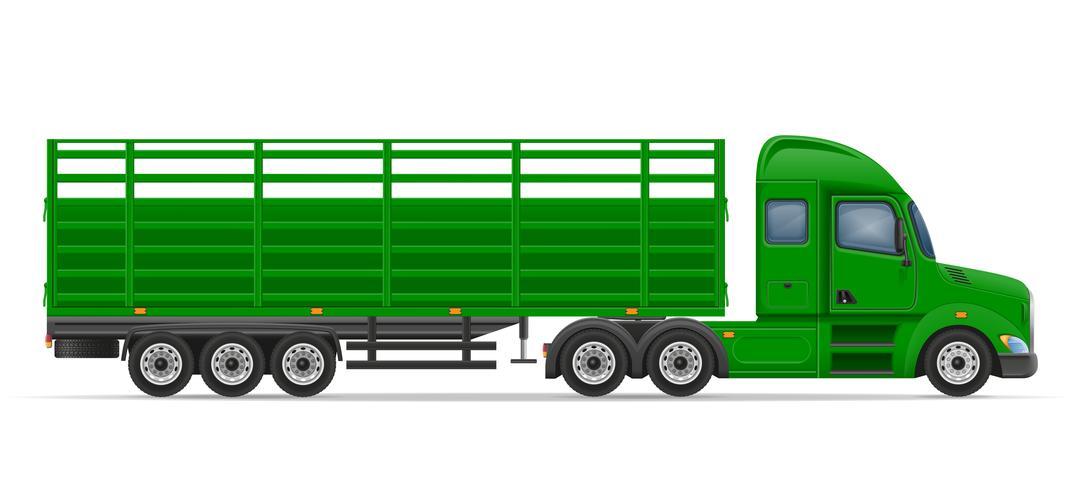 LKW-Sattelanhänger für den Transport von Waren Vektor-Illustration vektor