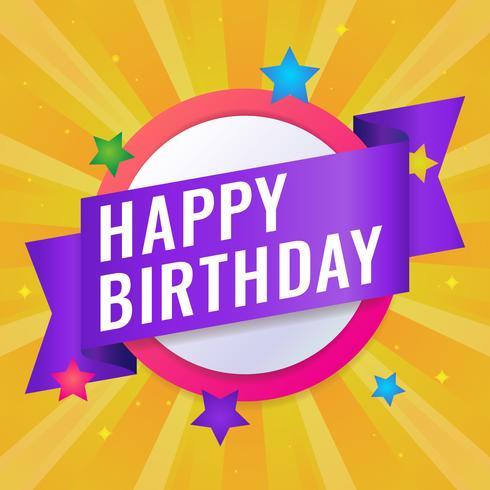 Alles- Gute zum Geburtstaggruß-Karten-Vektor-Illustration vektor