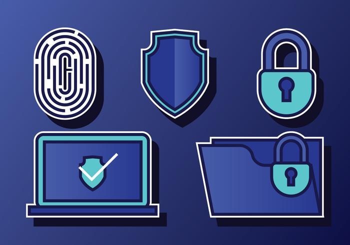 Cyber-Sicherheits-Set vektor
