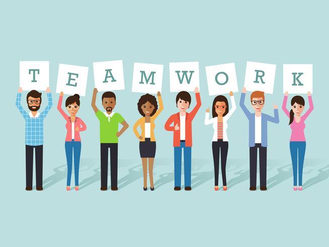 Geschäftsmann und Geschäftsfrau Teamarbeit vektor