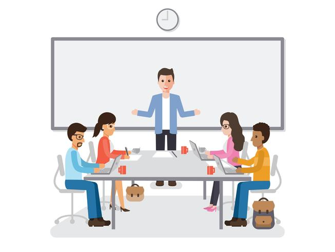 Treffen von Geschäftsleuten und Geschäftsfrauen vektor