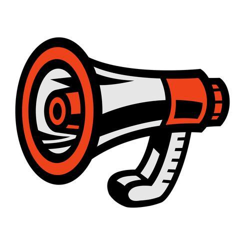 Megafon Högtalare Bullhorn Meddelande Alert vektor