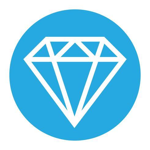 Diamantvektor logo vektor