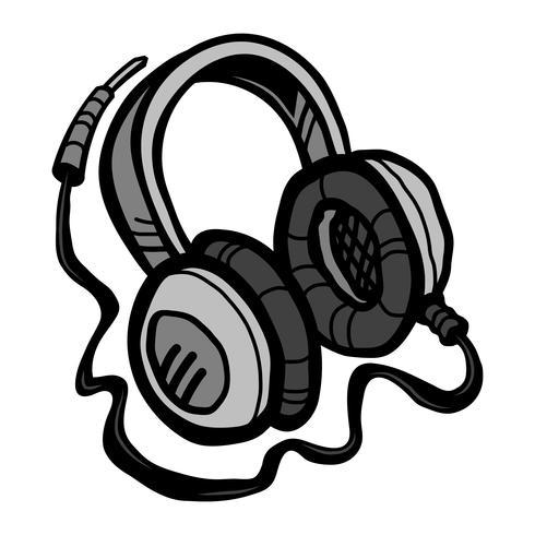 Hörlurar Musik Tillbehör vektorikonen vektor