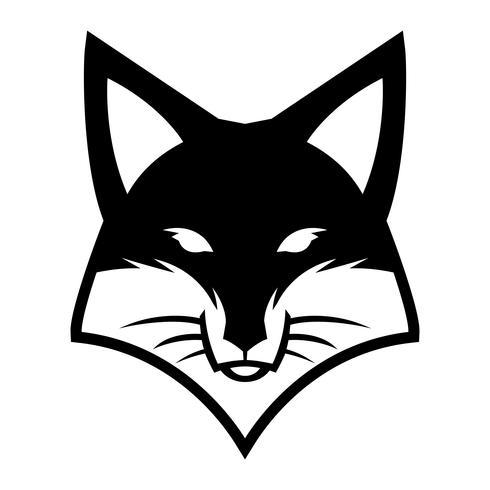 Fox Gesicht Logo Vektor Icon