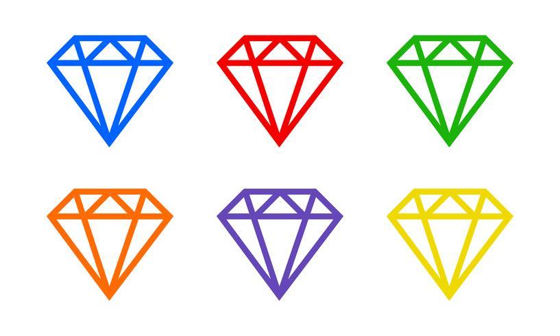 Diamant-Vektor-Logo vektor