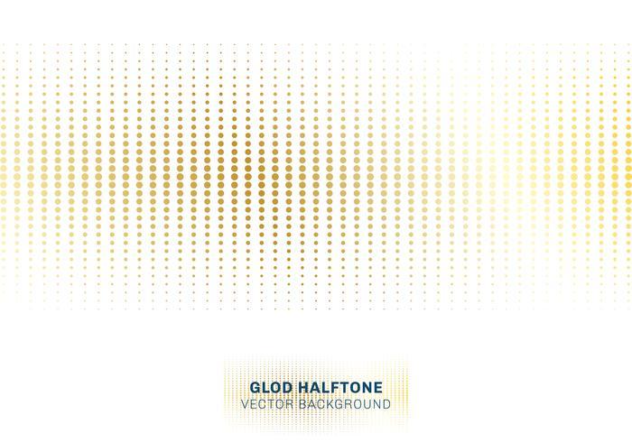 Abstraktes Goldpunktmusterhalbtonbild auf weißer Hintergrundluxusart. vektor