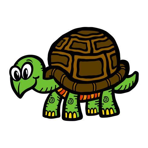 Niedliche Cartoon-Schildkrötenillustration vektor