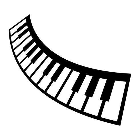 Klaviertastatur Musikinstrument Vektor Icon