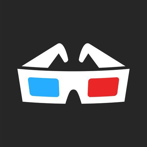 3D Filmgläser vektor