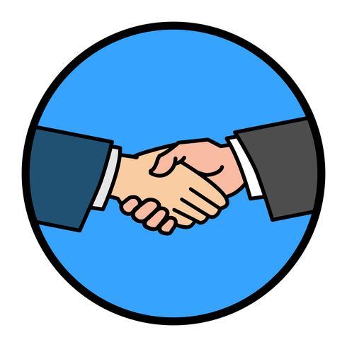Handshake-Vektor-Illustration vektor