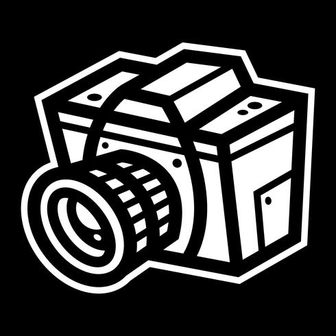 Fotografi Kamera vektorikonen vektor