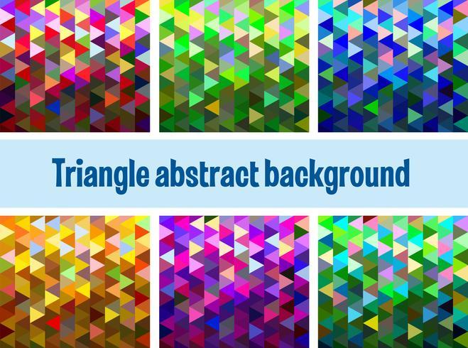 Mehrfarbiges Dreiecksnetz vektor
