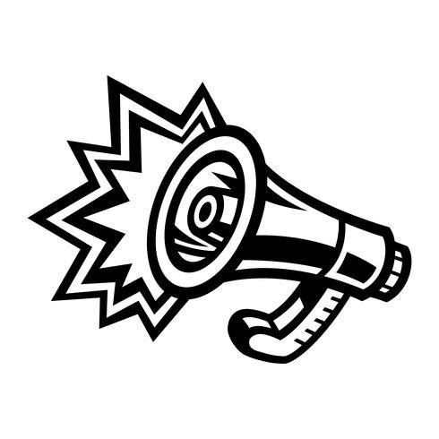 Megaphon Lautsprecher Bullhorn Ankündigung Alarm vektor