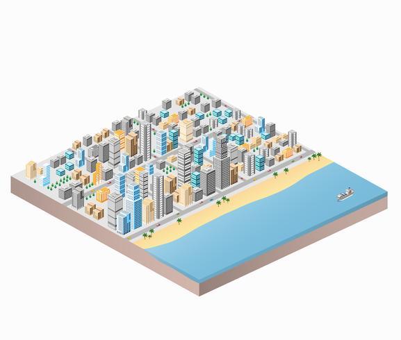 Stadtstrand vektor