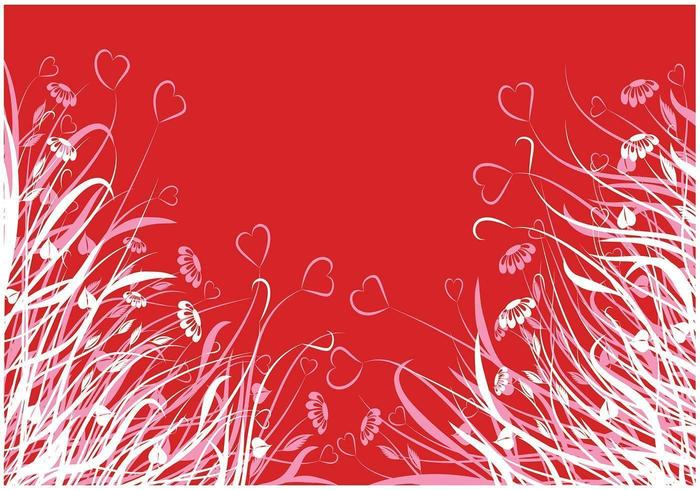 Hjärta blomma vektor tapet pack