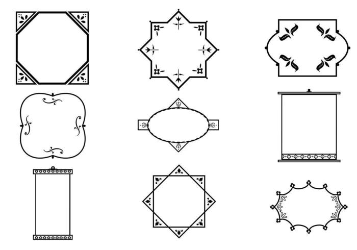 Delikat dekorativ ram vektorpaket vektor