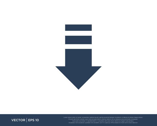 Pfeilsymbol Vektor Vorlage Symbol