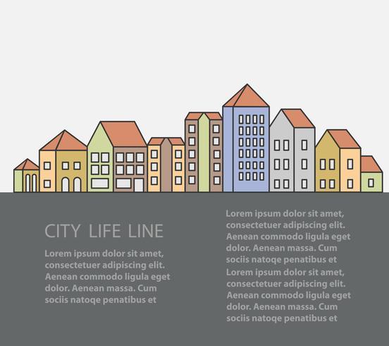 städtische Gebäude vektor