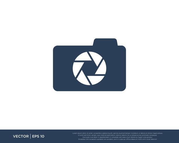 Kamera Verschluss Logo Icon Vector