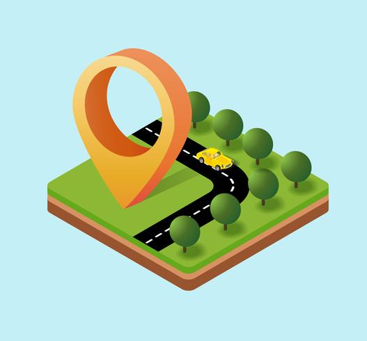 Navigationsikonen vektor