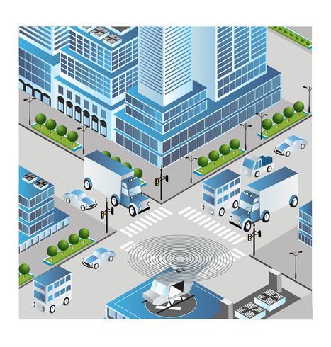 Stad vektor