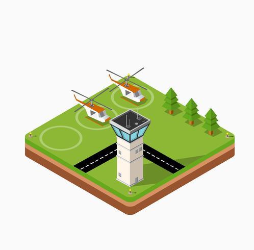 fliegende Hubschrauber vektor