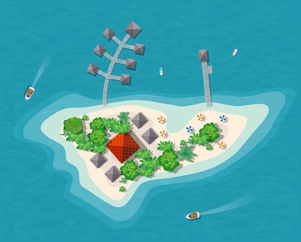 Inselparadiesansicht vektor