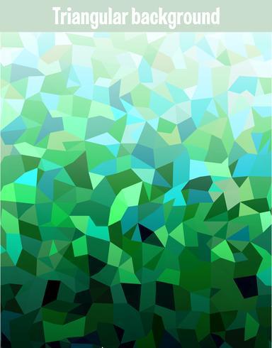 Grön mosaik bakgrund vektor