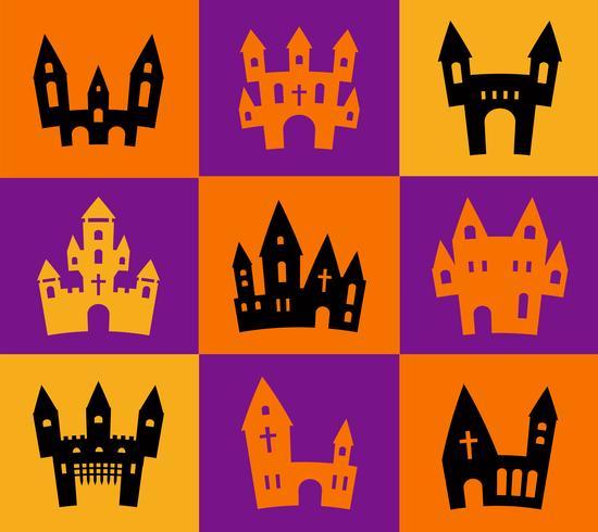 Skriv ut Halloween silhuetter vektor