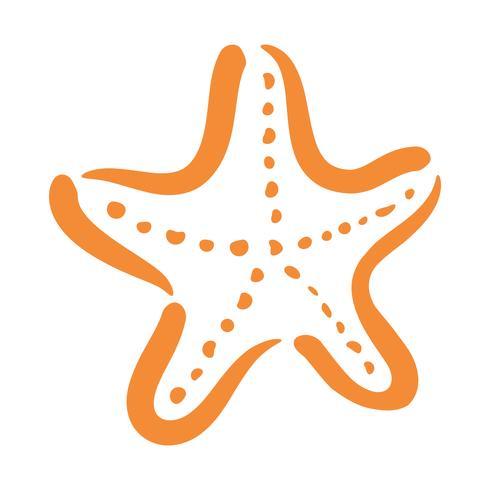 Sjöstjärna havslevande vektorikonen vektor
