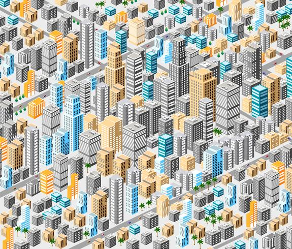 Hintergrund der isometrischen Stadt vektor