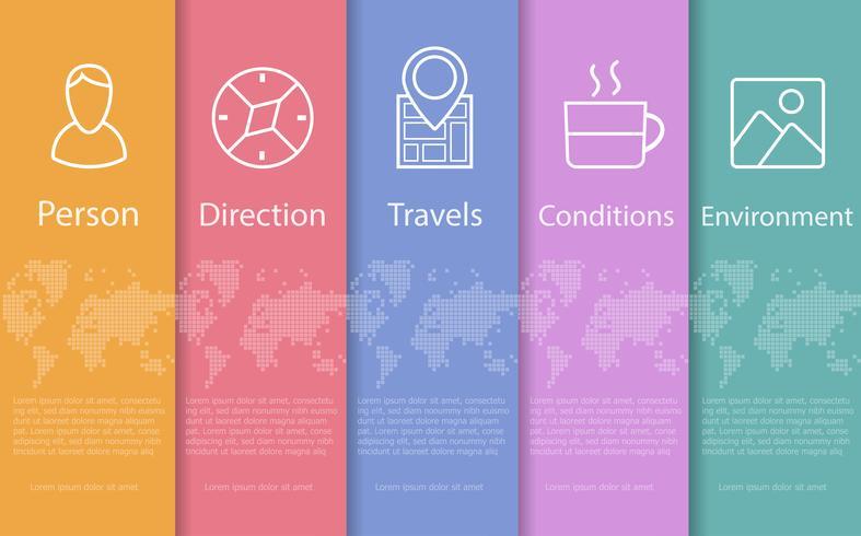 Konzept abstrakte Reise vektor