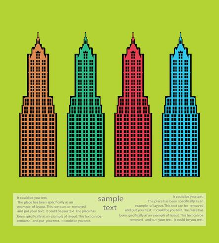 Städtisches Thema vektor