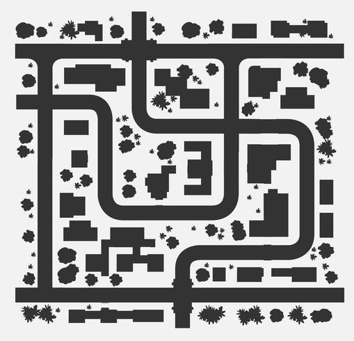 Silhouette Karte vektor