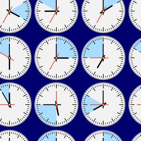 Nahtlose Uhren vektor