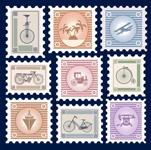 Retro Briefmarken vektor