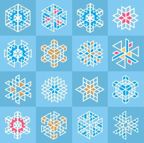 Weihnachtsschneeflocke Muster vektor
